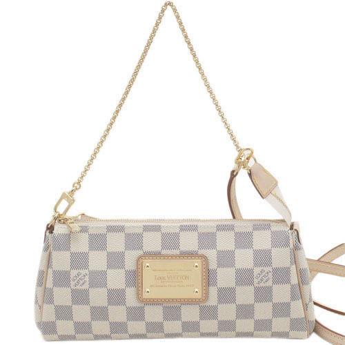 Louis Vuitton LV N55214 Damier 白棋盤格紋小鍊帶肩背包/晚宴包 全新 預購【茱麗葉精品】