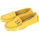 FENDI 金屬LOGO牛皮休閒鞋(黃色) 1530285-66