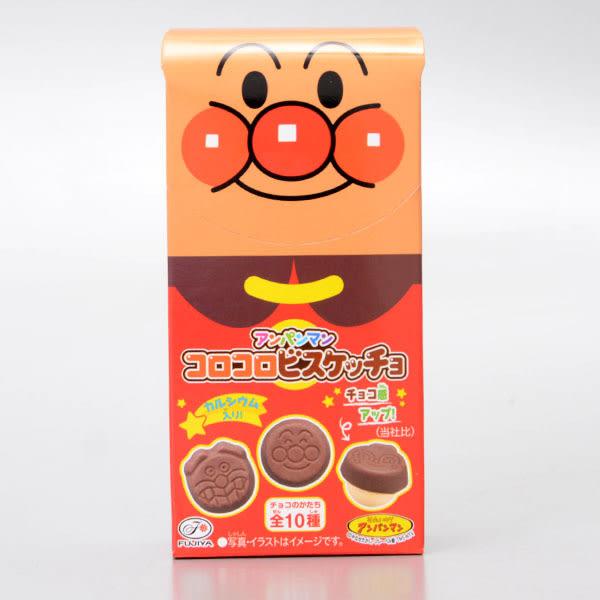 【不二家】麵包超人圓形餅乾巧克力34g(賞味期限:2018.11)