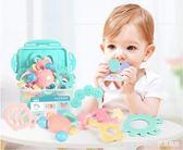 新生嬰兒玩具手搖鈴可咬0-3-6-12個月寶寶益智手抓握牙軟膠0-1歲5  LannaS