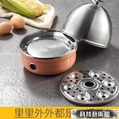 煮蛋器 名友蒸蛋器煮蛋器家用自動斷電小型1人煮蛋不銹鋼蒸蛋機煮蛋神器 交換禮物