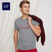 Gap男裝 新年款舒適棉質短袖圓領T恤 402556-深煙灰色