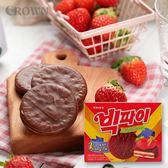 韓國 CROWN 草莓果醬派 216g【庫奇小舖】