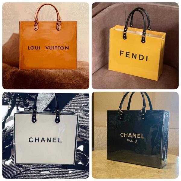 大牌紙袋改造DIY材料包 ( 含紙袋 ) LV CHANEL Dior FENDI 包包 手提袋 名牌紙袋包