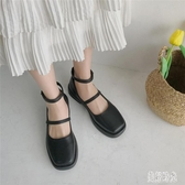 赫本鞋夏日系小皮鞋女復古圓頭lolita鞋2020夏季百搭瑪麗珍鞋女jk FX8495 【美好時光】