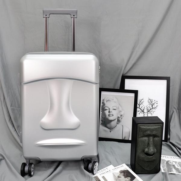 摩艾20吋行李箱 Stoner Design石人 旅行箱 登機箱 銀色