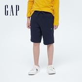 Gap男童 基本款拉鍊口袋運動短褲 669887-海軍藍