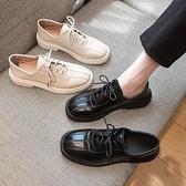 小皮鞋女英倫風2021秋冬新款軟皮平底黑色職業工作鞋單鞋軟底百搭 韓國時尚週 免運