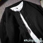 針織外套 秋季休閒毛衣男士線衫