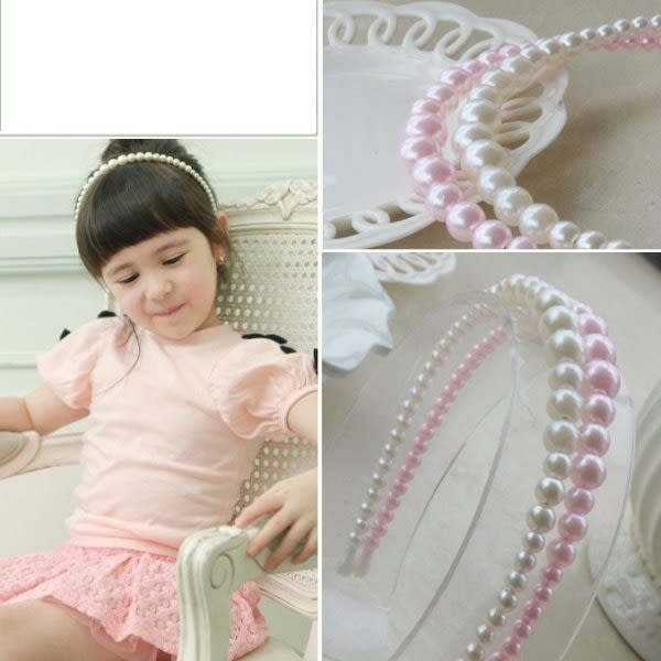 童裝 現貨 髮飾 韓風珍珠簡單款髮箍,2色可選【F11-1】