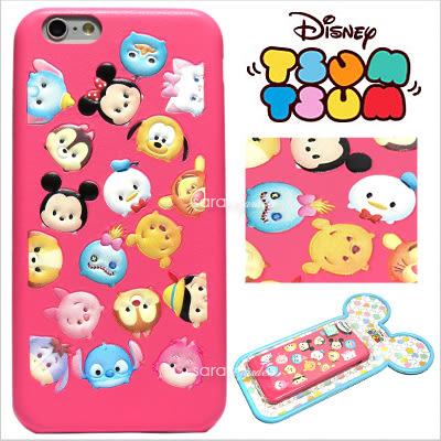 免運 官方授權 迪士尼 Tsum Tsum 疊疊樂 立體 皮革 Q版 iPhone 6 6S Plus 手機殼 保護套 皮套 經典角色