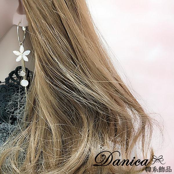 耳環 現貨 韓國女神款浪漫小香風花朵水鑽流蘇925銀針耳環 S93288 批發價 Danica 韓系飾品