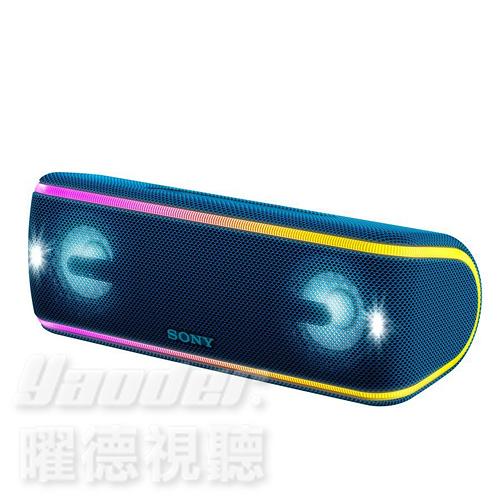 【曜德 送音源線+KKBOX30天】SONY SRS-XB41 藍 重低音防水聲光 藍芽喇叭