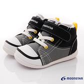 日本月星Moonstar機能童鞋-護踝高筒運動寶寶鞋-MSCNB12367黑灰(寶寶段)