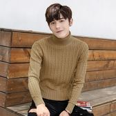 針織毛衣-高領秋季純色寬鬆純棉男針織衫3色73pg20【巴黎精品】