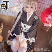 春日野穹cos穹妹黑色和服浴衣cosplay服裝女 鹿角巷YTL