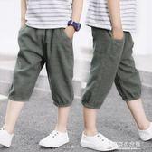 男童夏裝短褲5兒童中大童7休閒款帥氣純棉寬鬆七分褲子 【東京衣秀】