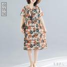 棉麻洋裝 2020夏天流行闊太太連身裙高貴女亞麻有女人味的裙子 TR1067『紅袖伊人』