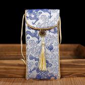 中國風云錦流蘇手機包錦緞手機袋太陽眼鏡袋民族特色送老外小禮品