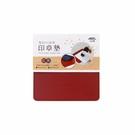 【奇奇文具】力大ABEL 66826 12x12cm 紅/黑(小) 雙色PU皮質印章墊