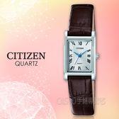 CITIZEN 手錶專賣店 EJ6120-03A 石英指針女錶 皮革錶帶 白色錶面 日常生活防水