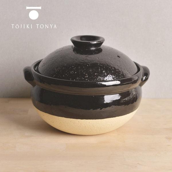 【日本TOJIKI TONYA】古伊賀耐熱雙蓋炊飯土鍋2.5L(4-6人)