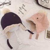 毛球星星加絨護耳蘇聯帽 童帽 帽子 遮陽帽 保暖帽