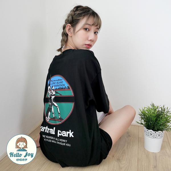 【正韓直送】中央公園美式風格短袖上衣 1色 美式運動風 圓領上衣 棉質 哈囉喬伊 G192