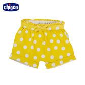 chicco-To Be Baby-抽摺反折短褲-黃底白點