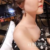 耳環  日韓新品雪花水鉆耳釘女 兩戴短款耳墜氣質百搭個性潮流飾品