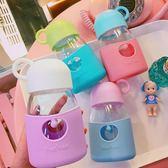水杯  夏季小清新純色東京丸子透明杯日系女學生可愛隨手杯便攜軟妹水杯