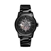 【Relax Time】簡約時尚鏤空機械腕錶-經典黑/RT-38J-6/台灣總代理公司貨享一年保固