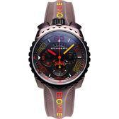 BOMBERG 炸彈錶 BOLT-68 童趣馬卡龍計時手錶-咖啡/45mm BS45CHPBR.049-4.3