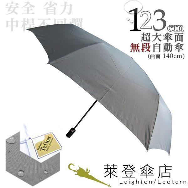 雨傘 ☆萊登傘☆ 超大傘面 可遮三人 易甩乾 不回彈 無段自動傘 鐵氟龍 Leighton 冷色灰