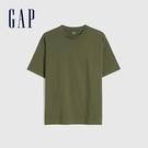 Gap男裝 棉質舒適厚磅純色圓領短袖T恤 590048-綠色