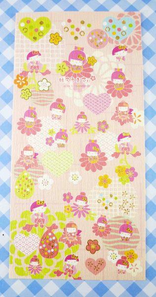 【震撼精品百貨】Hello Kitty 凱蒂貓~KITTY貼紙-和風藍