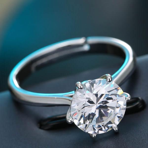 預購-單鋯多爪銅質戒指
