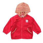 【愛的世界】快樂花園純棉半鬆緊帶口袋連帽長袖外套/1~2歲-台灣製- ★春夏外套