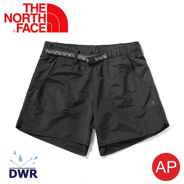 【The North Face 女 快乾抗UV短褲《黑》】3V55/DWR/排汗/防潑水/運動褲/休閒褲/跑步