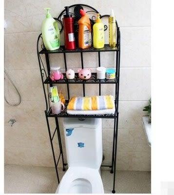 衛生間鐵藝馬桶架洗衣機收納架【藍星居家】