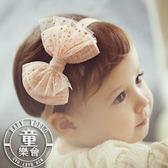 髮帶 嬰兒 韓版 星星 燙金 網紗 蝴蝶結 髮飾 BW