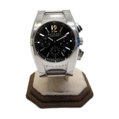 BVLGARI 寶格麗 Ergon 黑錶盤不鏽鋼 計時碼錶 自動上鍊(機械錶)【二手名牌BRAND OFF】