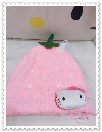 ♥小花花日本精品♥ Hello Kitty 毛帽 兒童毛帽 粉色 白色點點 冬天必備 保暖 禦寒 67828906