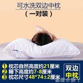 枕頭枕芯一對成人家用舒適整頭情侶單人羽絲絨柔軟枕心一對裝 igo全館免運