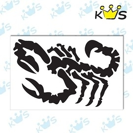 【收藏天地】防水防曬*安全帽 汽機車 浮雕貼紙-蠍子(2色) 小