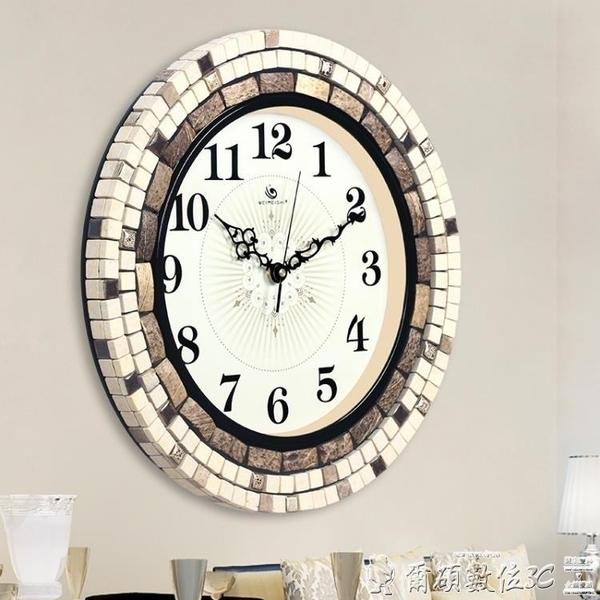 時鐘weimeishi歐式藝術鐘表 時尚創意靜音時鐘 美式現代簡約客廳掛鐘 LX爾碩數位