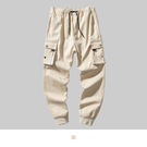 【男人幫大尺碼】K1626-時尚潮流嘻哈工作長褲-卡其色