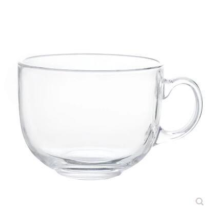 大容量馬克杯玻璃杯子牛奶麥片碗早餐燕麥杯大肚茶杯咖啡杯帶蓋勺 全館免運