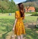 VK精品服飾 韓系小仙女桔梗氣質顯瘦收腰...