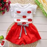 【全館】現折200童裝女童短袖套裝新款夏裝兒童兩件套棉質休閒運動中大童短褲